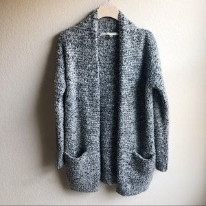Max Studio Gray Cardigan with Pockets Size Large